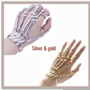 Gold or silver skeleton cuff bracelet *NWT*